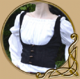 LARP Medieval waistcoat with buttons